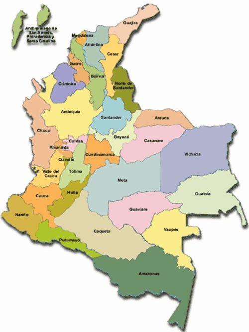 Resultados de la búsqueda de imágenes: mapa de la division politica de colombia imagenes - Yahoo Search