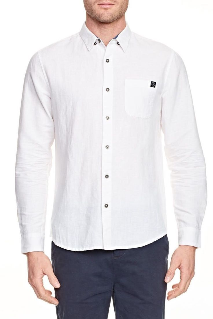 ELWOOD CLOTHING - Wentworth Long Sleeve Shirt White