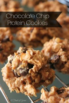 Chocolate Chip Protein Cookies.  Only 5 ingredients and super healthy!