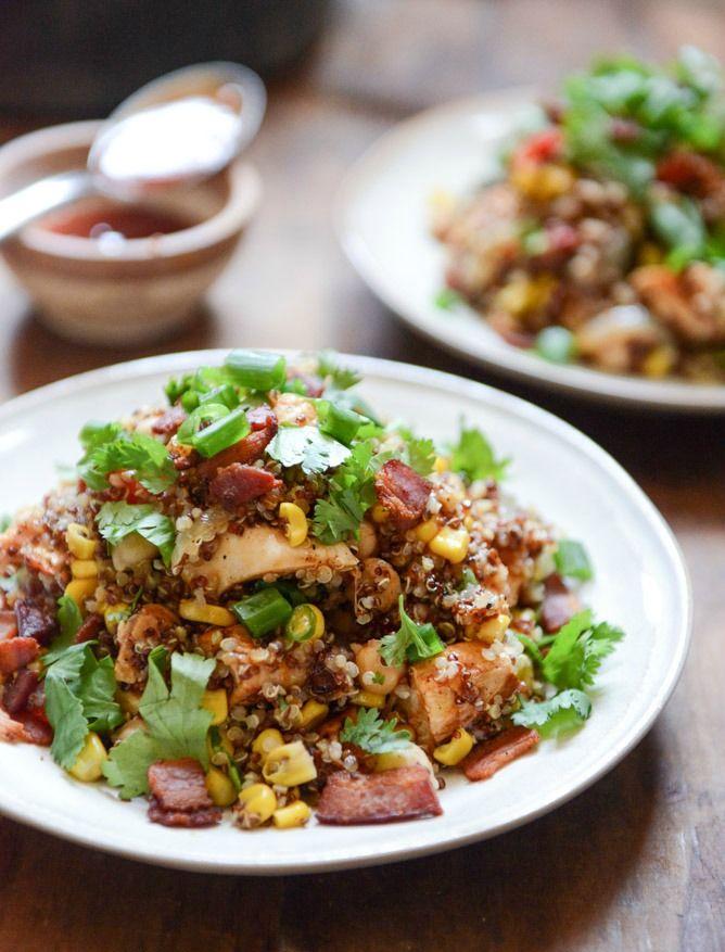 Summer BBQ Quinoa Salad I howsweeteats.com