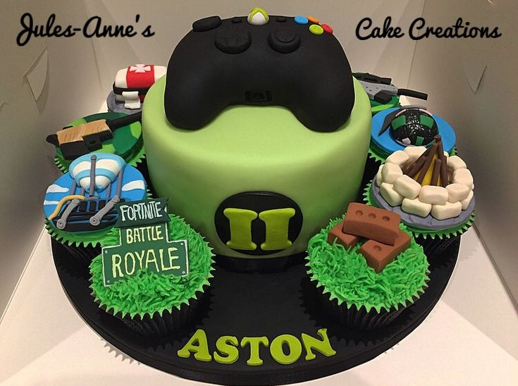 Fortnite Battle Royale Xbox Birthday Cake Amp Cupcakes By