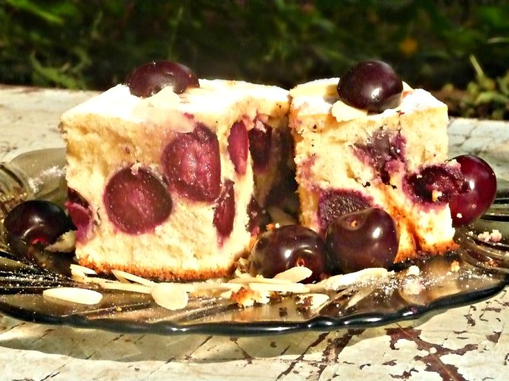 Recipe – Fresh Cherry pound cake