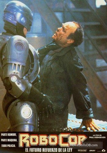 RoboCop - Lobby card with Peter Weller & Kurtwood Smith