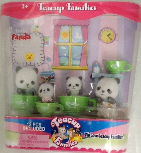 Teacup Families Leela Panda Family by Toy Teck. $16.98. Ages 3 and older. Leela Panda Family. 12 pc included. Teacup Families-Leela panda family come with 12 pieces and it for children 3 and older. Any liltte girl would love to have this panda family along with the 12 other families.