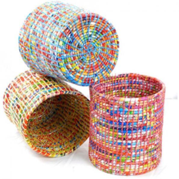 Poubelles en papier recyclé