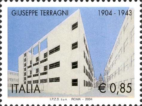 Giuseppe Terragni - catalogo completo dei francobolli italiani