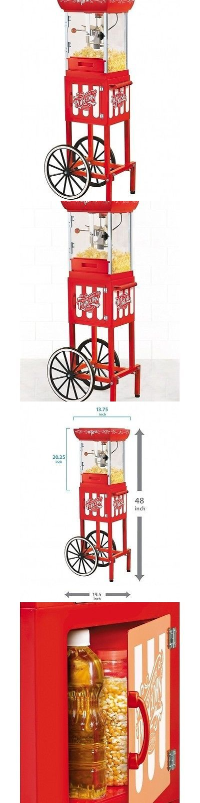 Popcorn Poppers 66752: Vintage Pop Corn Machine Cart Red Popper Maker Kettle Nostalgia Collection Movie -> BUY IT NOW ONLY: $106.67 on eBay!