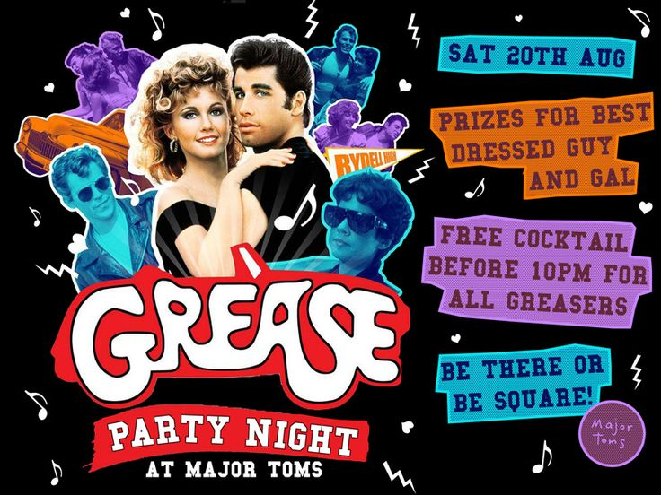 Create grease party invitations to send to your guests about your create grease party invitations to send to your guests about your outdoor movie night southern outdoor cinema event planning tip for promoting an stopboris Choice Image