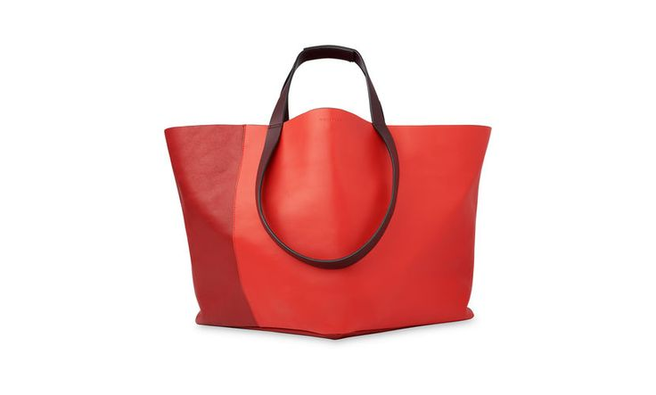 Java Colourblock Leather Tote, Red/Multi | WHISTLES