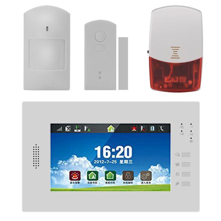 gsmpstn home security alarm system u2013 7 inch touchscreen pir sensor door