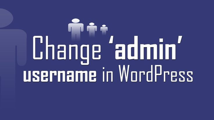 "Change default ""admin"" username in #WordPress the easy way without any plugin."