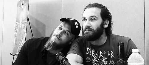 Travis Fimmel and Clive Standen // Ragnar Lothbrok and Rollo Lothbrok