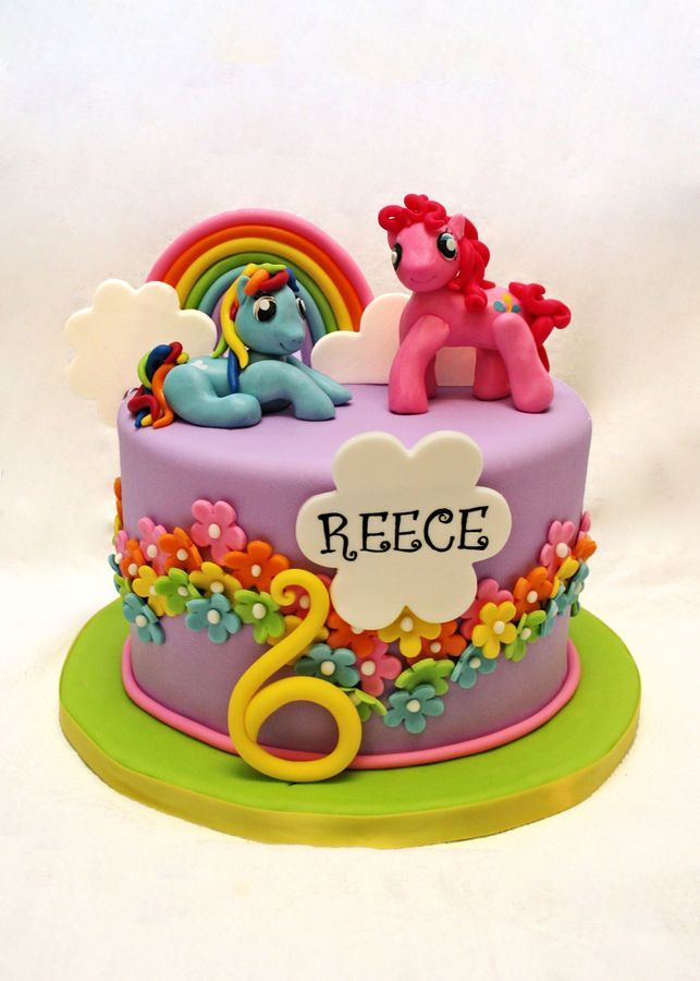 My Little Pony cake – Rainbow Dash and Twilight Sparkle would be perfect! >> Jae would Love this cake
