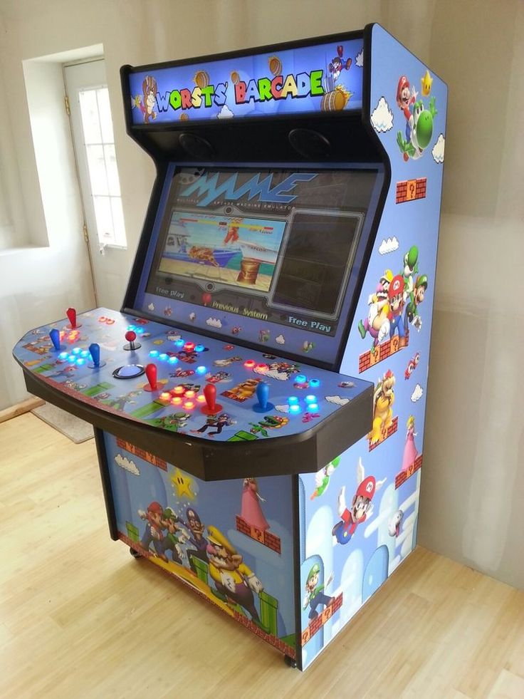 "40"" LED 4 Player Home Video Arcade Game MAME(TM) Can Play 1,000's Of Games #Machines"