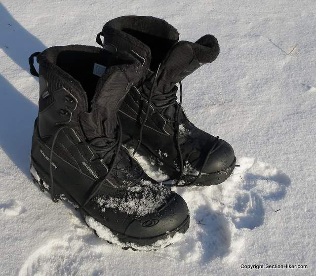 Salomon Toundra Mid WP Winter Hiking Boot Review - http://sectionhiker.com/salomon-toundra-mid-wp-winter-hiking-boot-review/