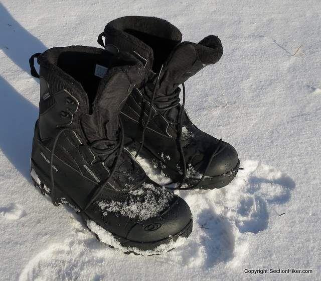 Salomon Toundra Mid WP Winter Hiking Boot Review - http://sectionhiker.com/salomon-toundra-mid-wp-winter-hiking-boot-review/