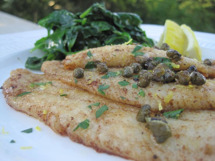 Sole Meuniere is a classic French fish recipe prepared with fresh Dover sole that has been lightly dusted in flour, pan seared in clarified butter and then topped with a simple sauce of fresh butter, capers, a squeeze of lemon and Italian parsley.  Simply divine!  Although I've prepared this lovely dish of sole at least fifty times or more, I hadn't thought of preparing it lately.  Most likely due to preparing it one too many times in the past and hearing the Bennett crew comment about Sole…