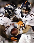 Broncos Raiders Football - Peyton Manning, Knowshon Moreno