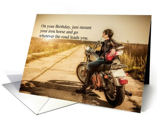 Happy birthday wishes 3 happy birthday wishes images and pictures - Biker Chick Birthday Card Recent Salon Of Art Sales
