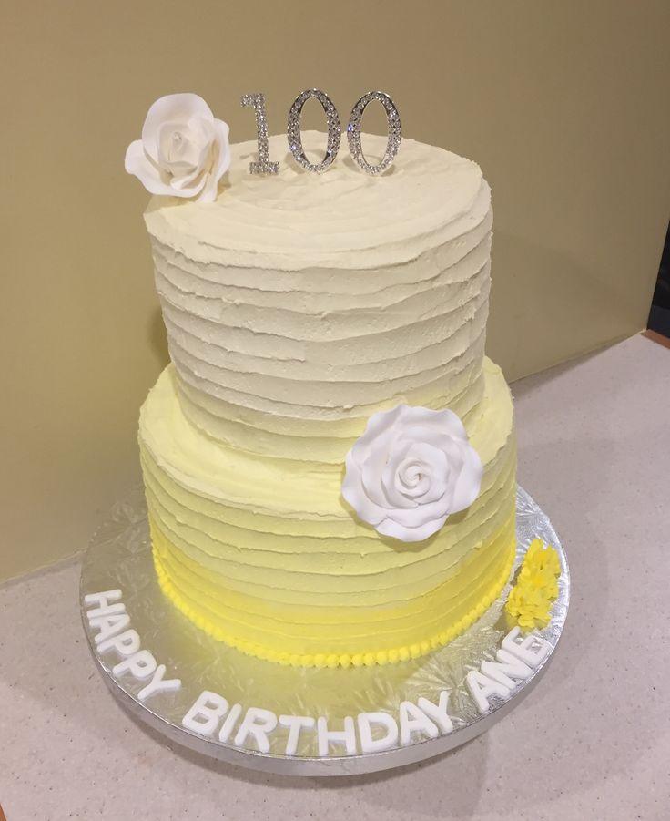 Yellow Ombre buttercream cake
