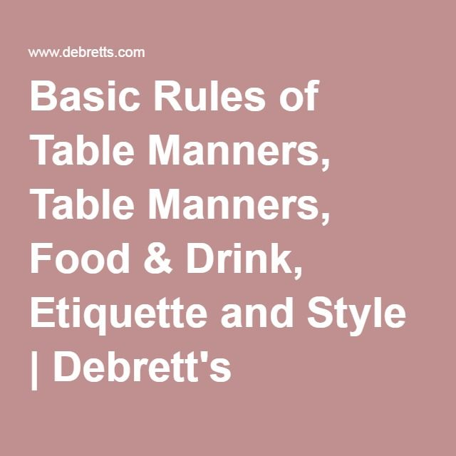 1000 ideas about Table Manners on Pinterest Manners  : 3cecc9ff25f7b522a29482b1285d090b from www.pinterest.com size 640 x 640 jpeg 28kB