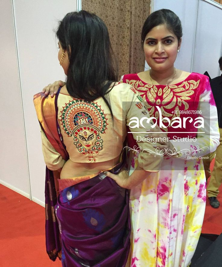 Our unique figurative Durga theme blouse presented at a fashion show by  Deepthi Ganesh  03 March 2017