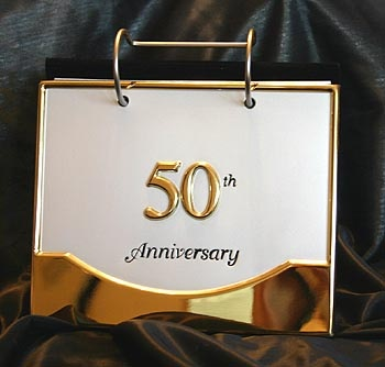 50th Wedding Anniversary Photo Flip Style Album Holds 40 4x6 Photos Of Your Special Day