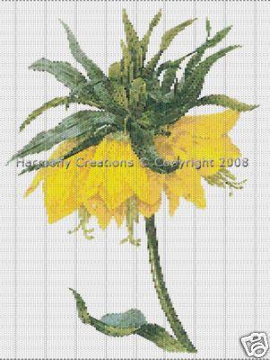 032 Bead Pattern Crown Fritillaria Imperialis Flowers Peyote - Beads & Jewelry Making