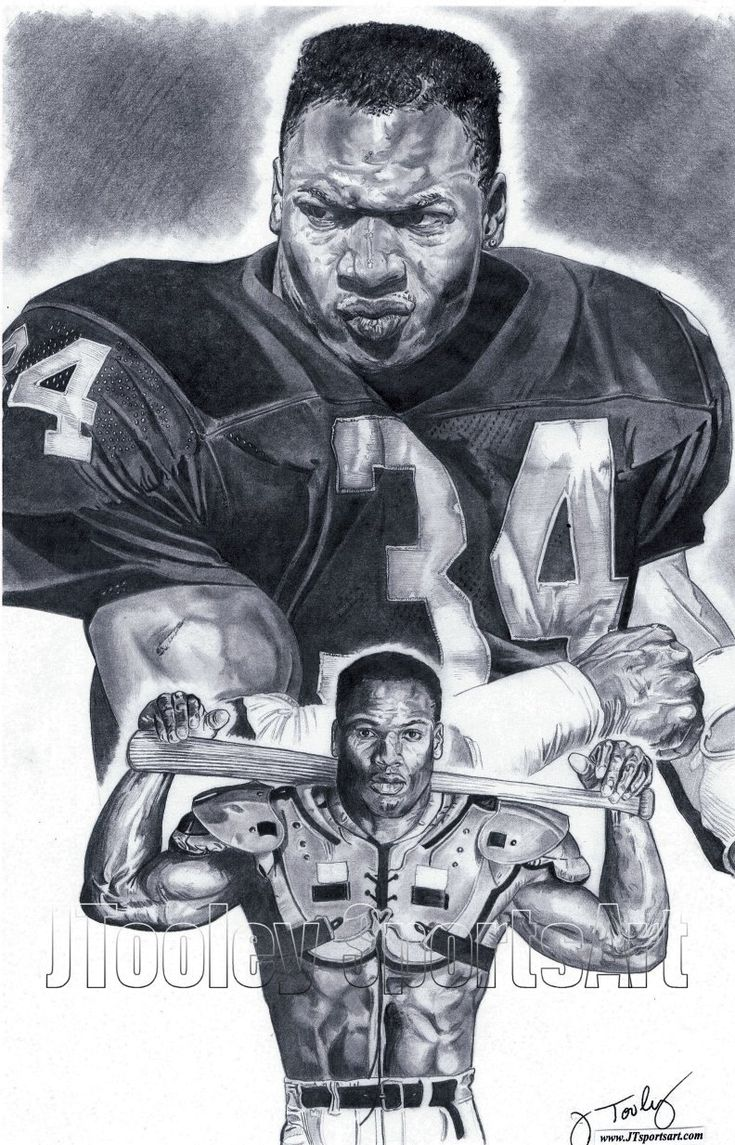 L.A. Raiders Bo Jackson Poster Art by footballArt on Etsy