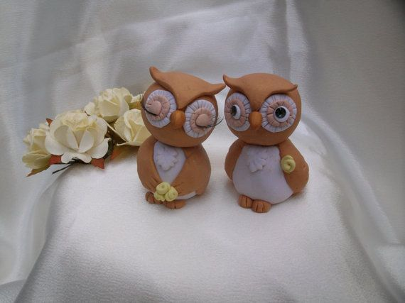 Rustic Owl Cake Toppers