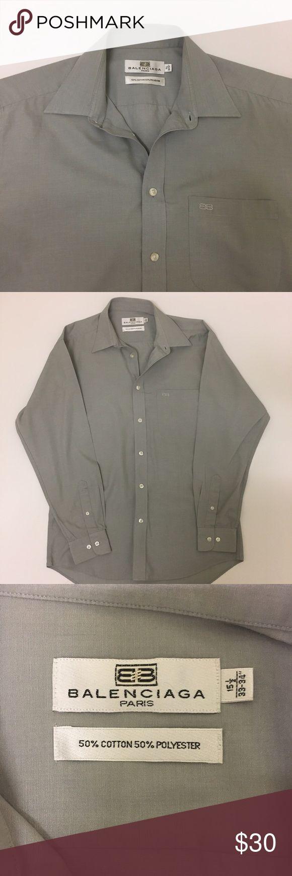 BALENCIAGA grey button down shirt BALENCIAGA grey button down shirt in good condition. Balenciaga Shirts