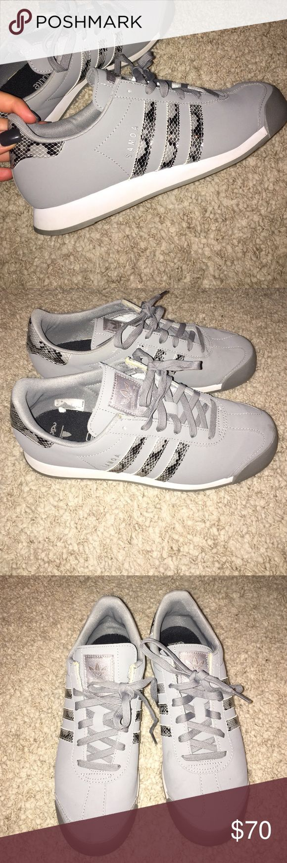 Adidas Soma Snakeskin Sneakers These shoes were worn multiple times and kept in very well ventilated areas. They are a men's 7 which is an equivalent to a women's 9 Adidas Shoes Athletic Shoes
