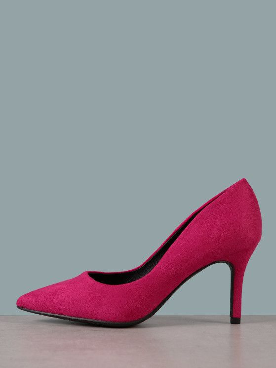 0260345aa Faux Suede Pumps | MakeMeChic.COM in 2019 | Shoe Dreams | Pink high ...