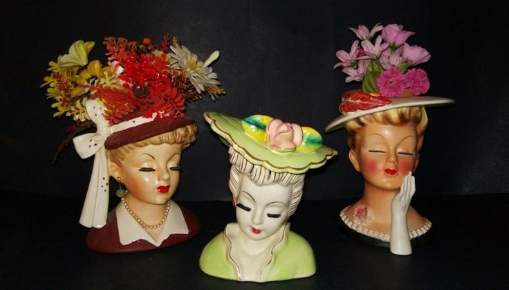 58 Best Antique Head Vases Images On Pinterest Half