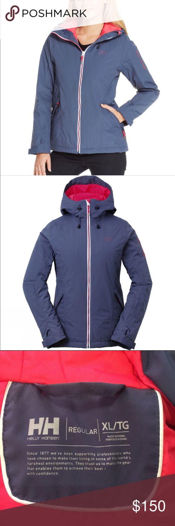 Helly Hansen winter ski coat. Helly Hansen winter ski coat.  Periwinkle/gray & pink Helly Hansen Jackets & Coats