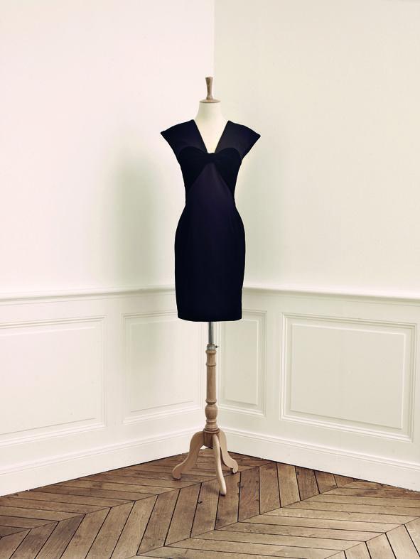 La petite robe noire vue par Alexis Mabille pour Monoprix. Le créateur au  nœud papillon