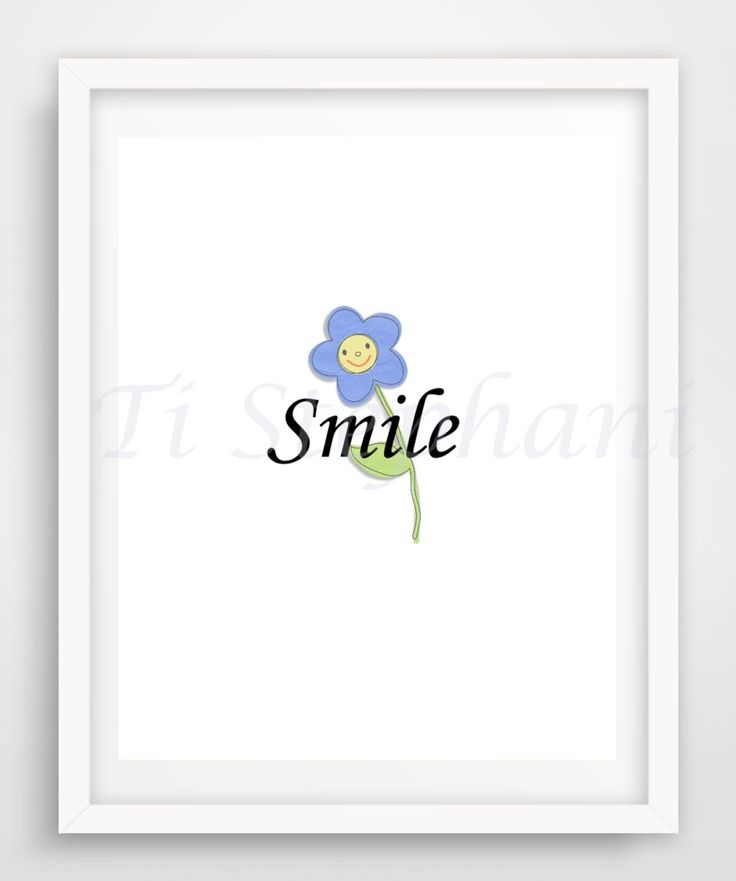 Smile Print, Printable, Easy Prints, Downloadable Art, Wall Art, Wall Decor, Instant Downloads by TiStephani on Etsy