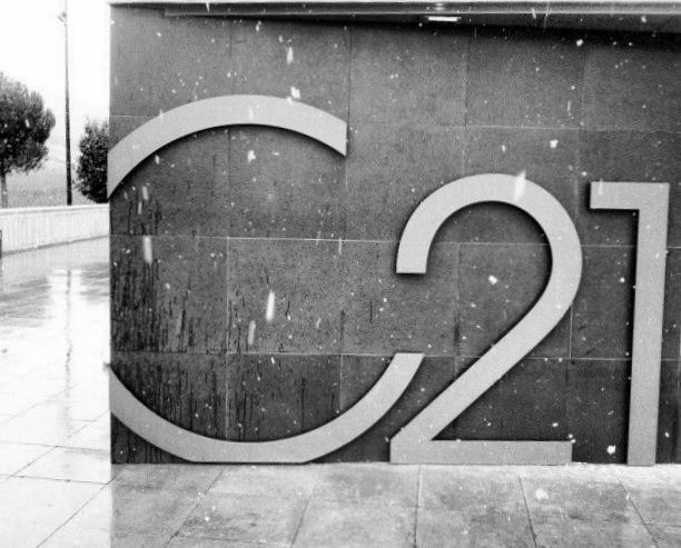 Rainy day at Cepa 21 Winery