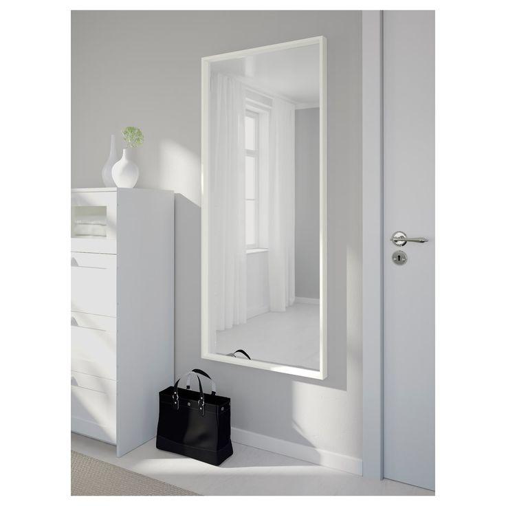 Ikea nissedal mirror white decor miroir ikea miroir blanc miroir chambre - Ikea miroir chambre ...