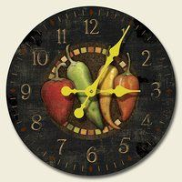 Cantina Chili Peppers 12 Inch Decorative Wood Wall Clock By Highland Graphics 23 99