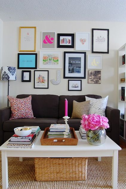 Awesome use of a small space! Sweet Sophistication for a Manhattan studio apartment. Interiors by @Jacqueline   York Avenue and @darlene weir @ Fieldstone Hill Design