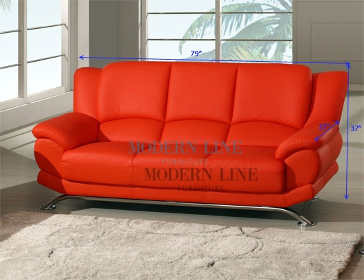 red leather couch dreamin