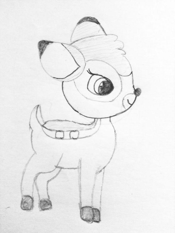 Tekening van Bambi door Manon