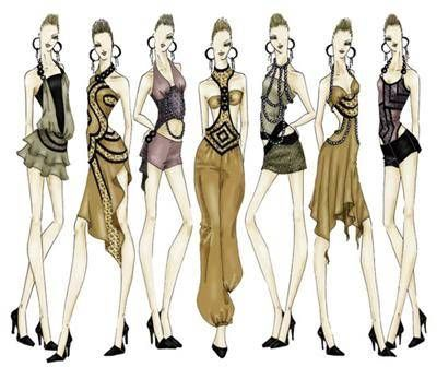 Free Fashion Drawings Templates available at http://walpoa.com/fashion-drawings-templates-trends-2012-2013.html