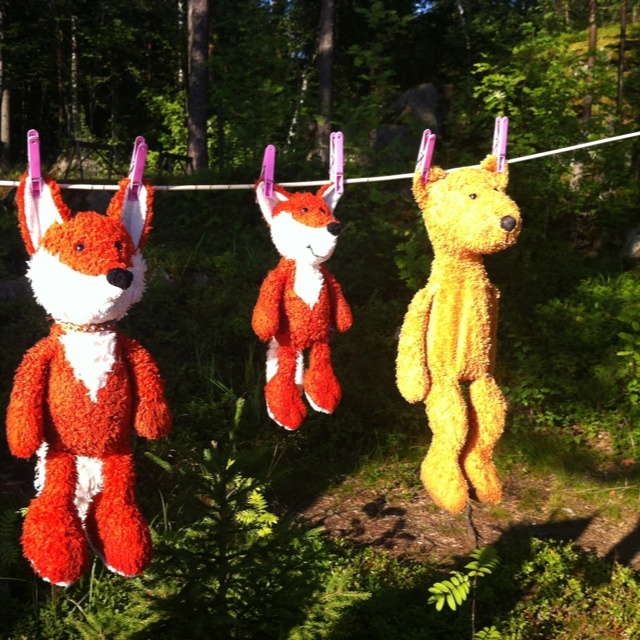 Unikaverit kävi uimassa #kesä teddies went to swim #summer #lakeside