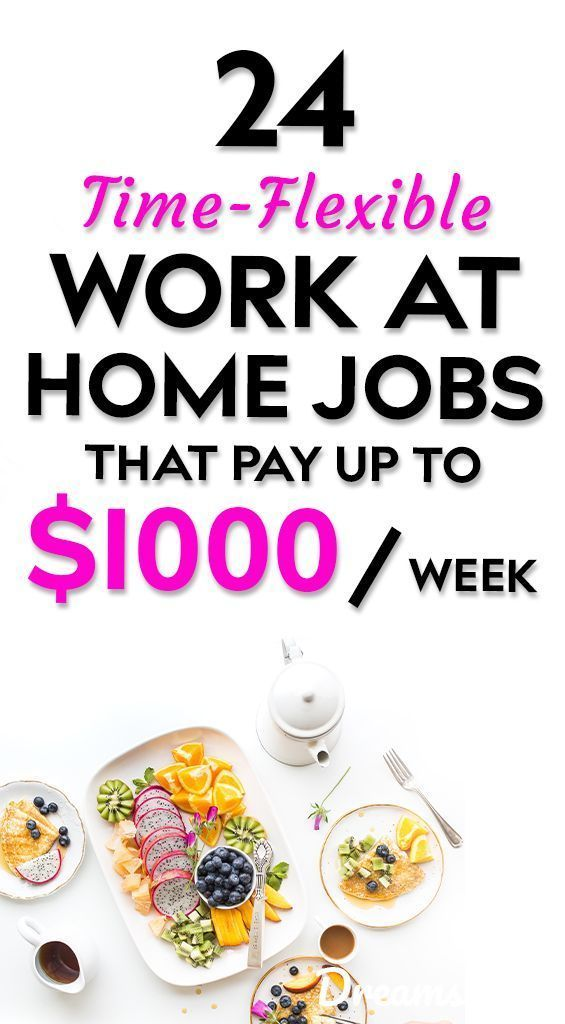 21 Genuine Work At Home Jobs That Pay Weekly Home Jobs Work