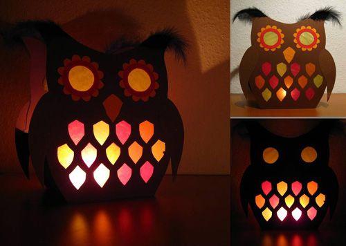 DIY: Owl Lantern with Template