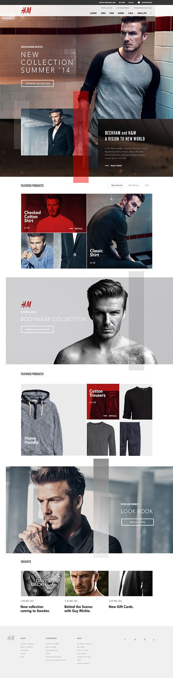 web dfesign | H&M X Beckham