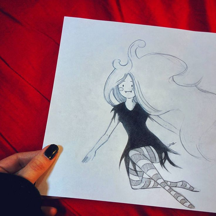 Raw practicing with Marceline from Adventure Time. Still not good though! 😭  www.facebook.com/imostrinellatesta   Lucia Petrucci Illustrations