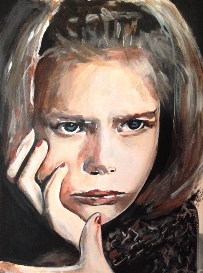 Acrylic on waterpaper 22 x 27 cm: By Marlene Bjerregaard.